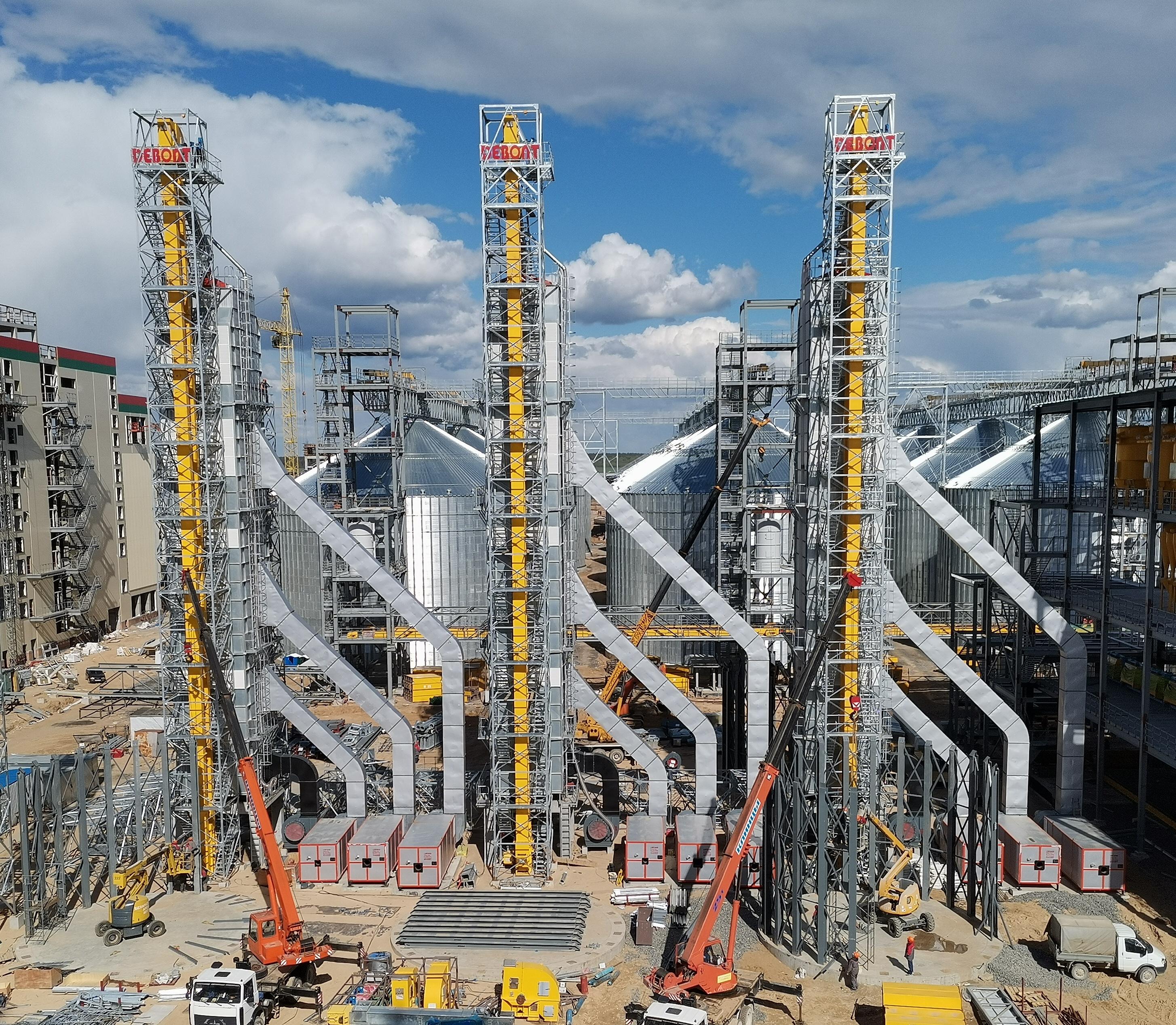 白俄罗斯全循环高科技农工综合体项目  三套日处理1250吨成套烘干设备